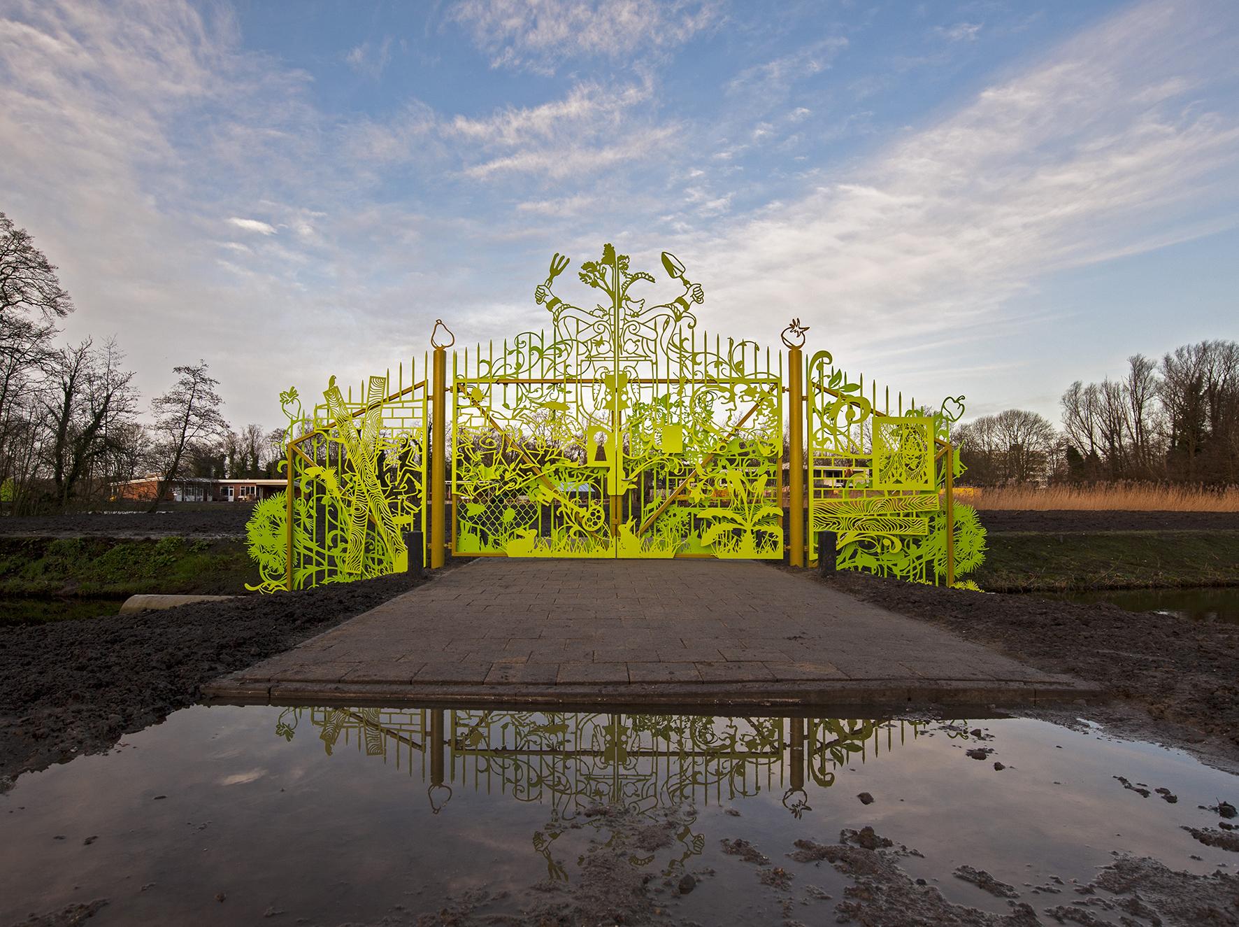 Aemstel schooltuin entrance u2022 leonie martine janssen